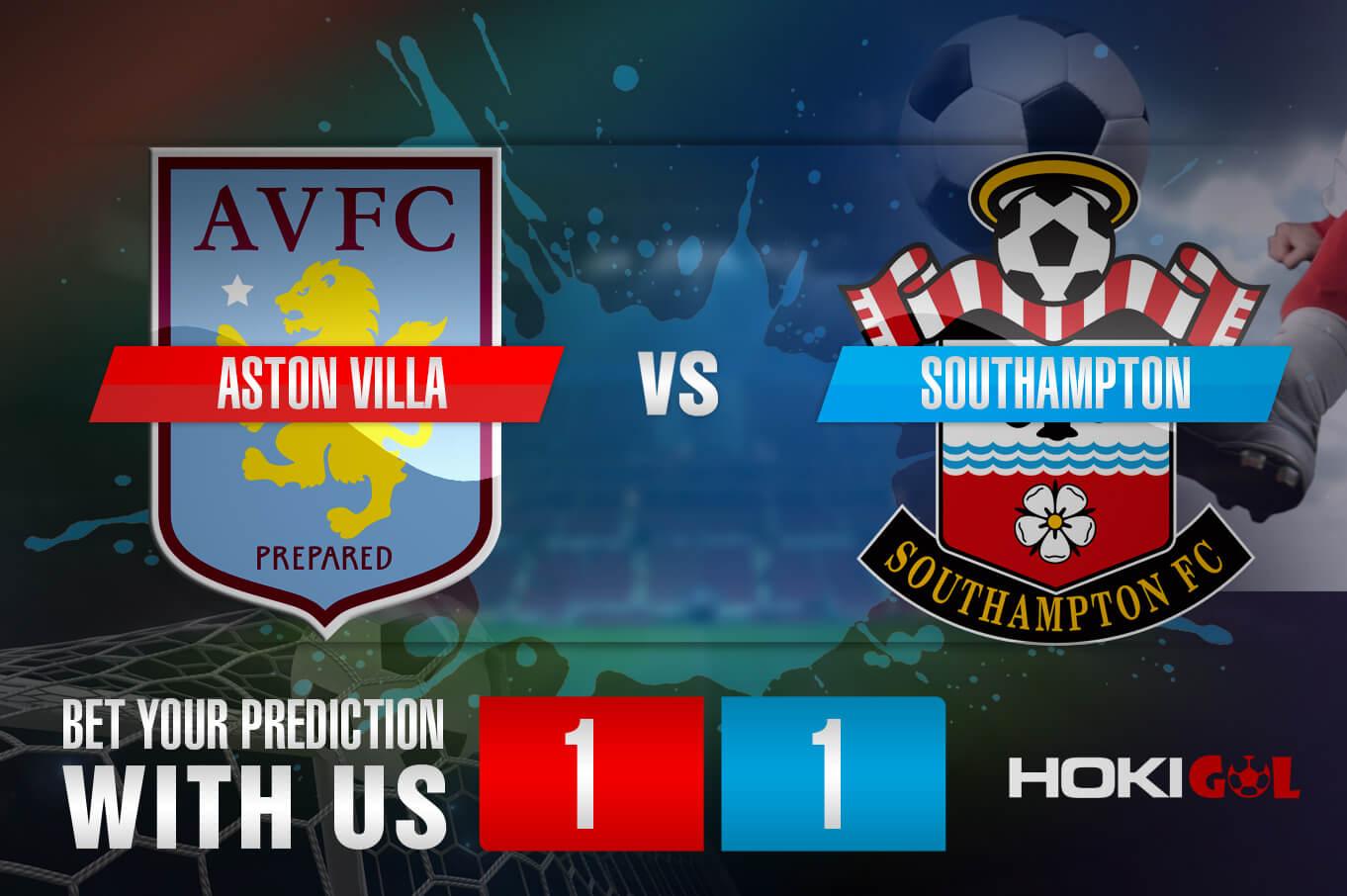 Prediksi Bola Aston Villa Vs Southampton 1 November 2020