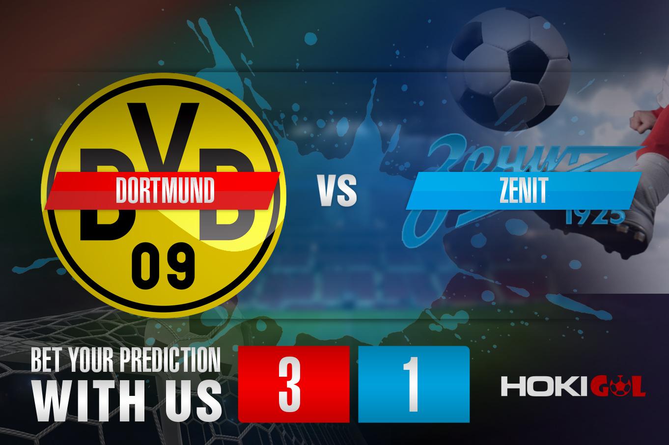 Prediksi Dortmund Vs Zenit 29 Oktober 2020