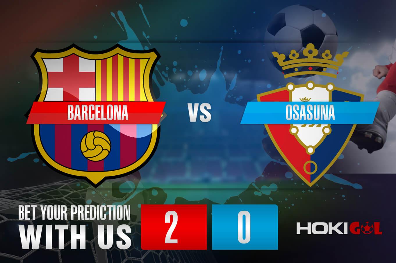 Prediksi Bola Barcelona Vs Osasuna 29 November 2020