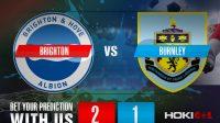 Prediksi Bola Brighton Vs Burnley 7 November 2020