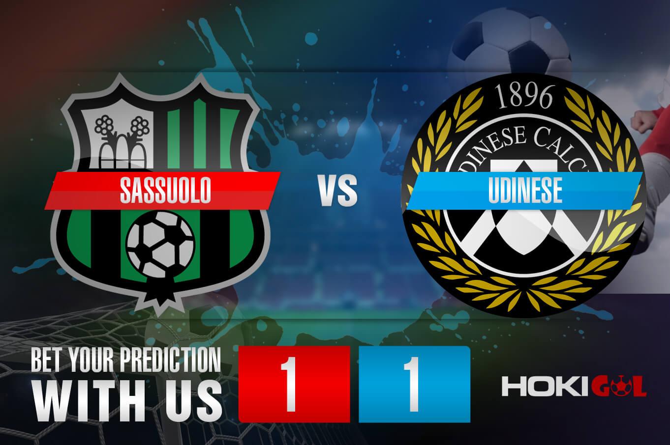 Prediksi Bola Sassuolo Vs Udinese 7 November 2020