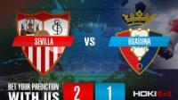 Prediksi Bola Sevilla Vs Osasuna 8 November 2020