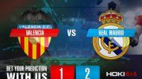 Prediksi Bola Valencia Vs Real Madrid 9 November 2020