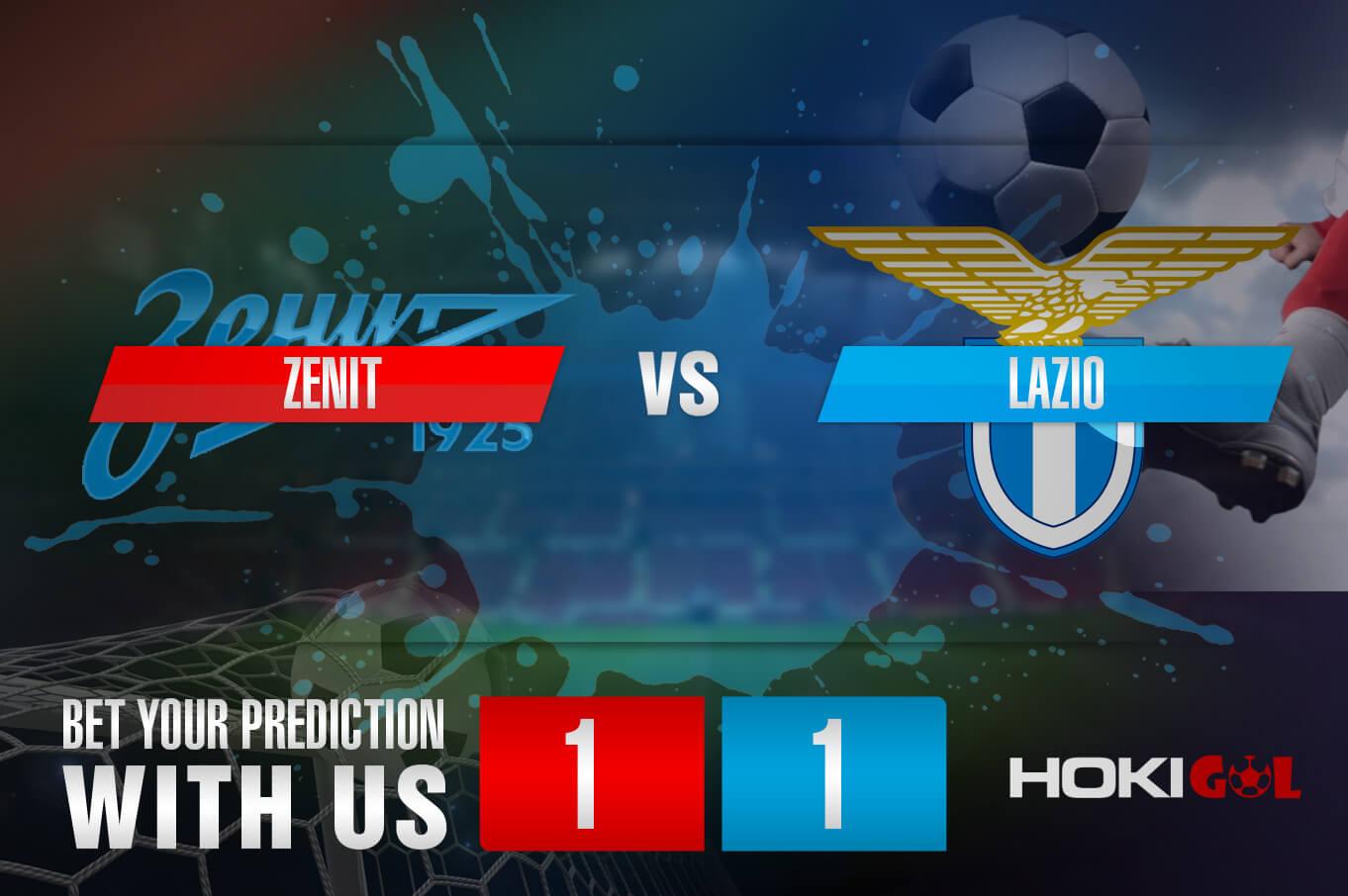 Prediksi Bola Zenit Vs Lazio 5 November 2020