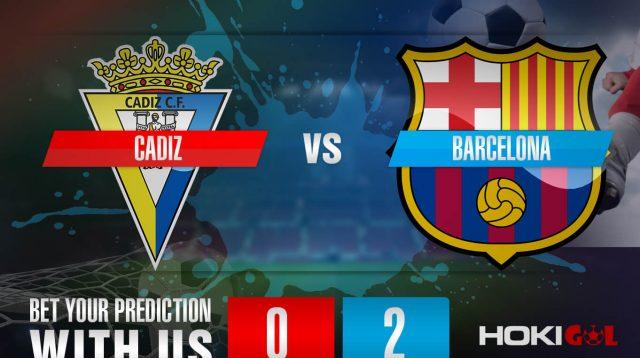 Prediksi Bola Cadiz Vs Barcelona 6 Desember 2020