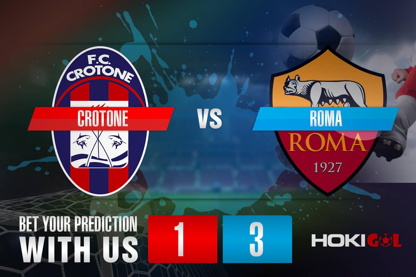 Prediksi Bola Crotone Vs Roma 6 Januari 2021