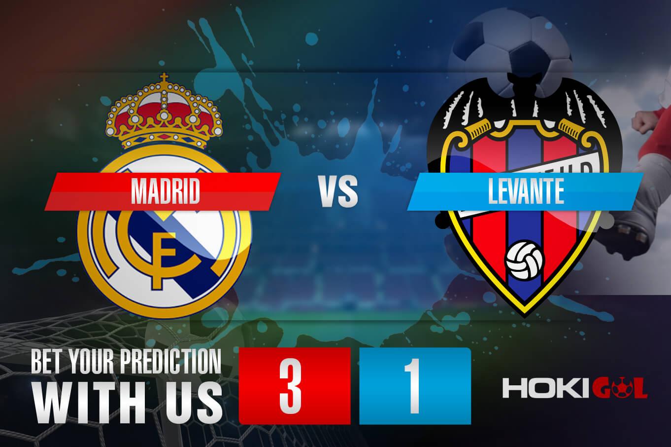 Prediksi Bola Madrid Vs Levante 30 Januari 2021