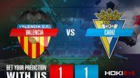 Prediksi Bola Valencia Vs Cadiz 5 Januari 2021