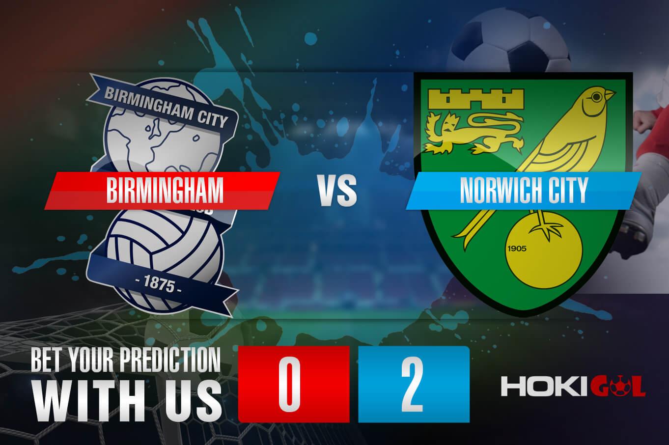 Prediksi Bola Birmingham Vs Norwich City 24 Februari 2021