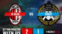 Prediksi Bola AC Milan Vs Udinese 4 Maret 2021