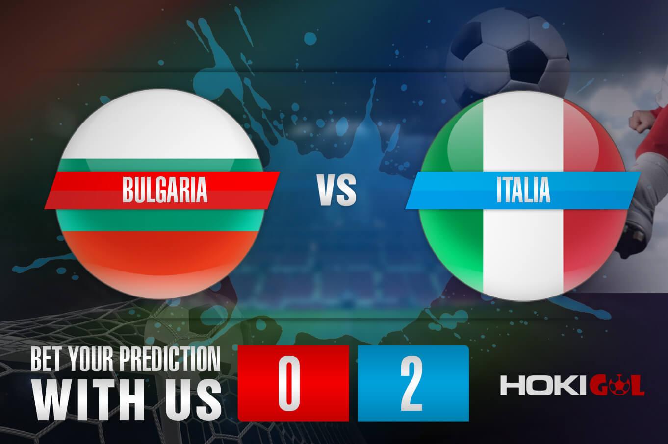 Prediksi Bola Bulgaria Vs Italia 29 Maret 2021