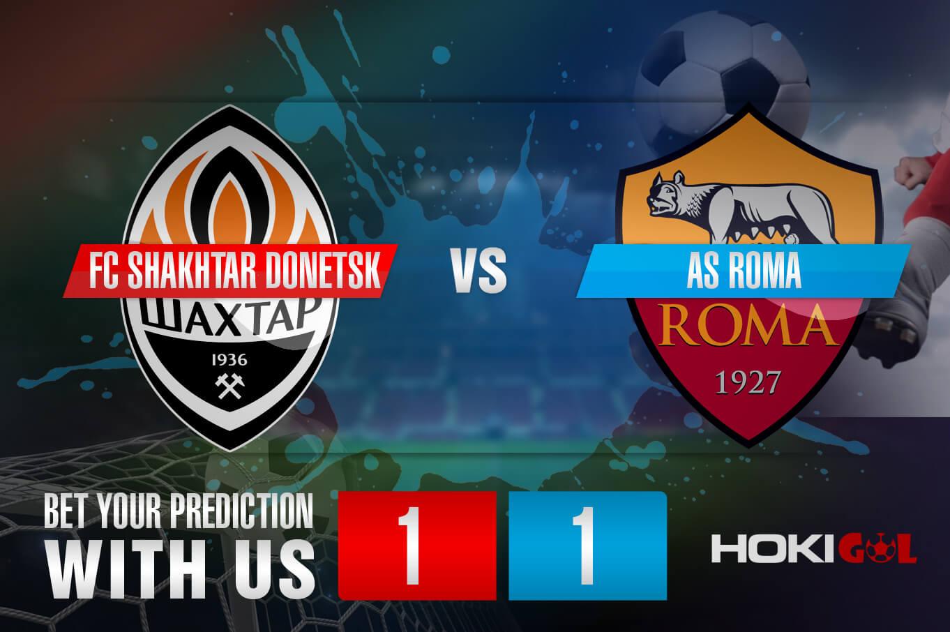 Prediksi Bola FC Shakhtar Donetsk Vs Roma 19 Maret 2021