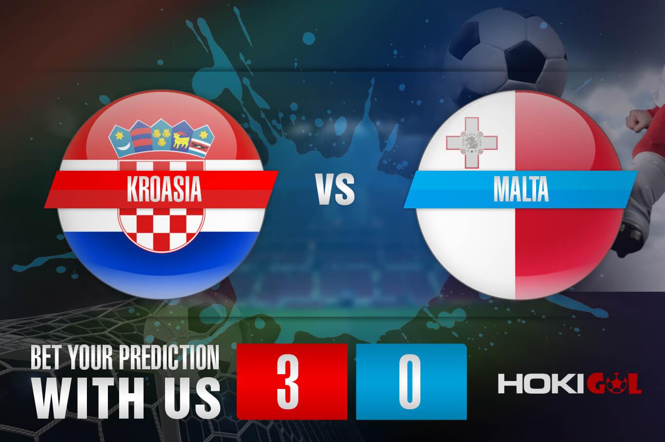 Prediksi Bola Kroasia Vs Malta 31 Maret 2021
