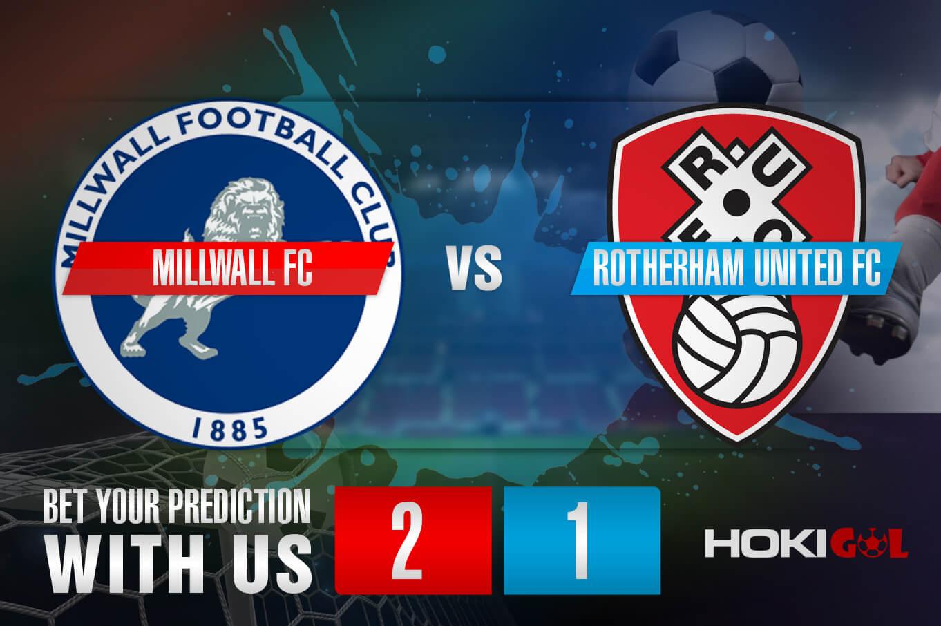 Prediksi Bola Millwall FC Vs Rotherham United FC 2 April 2021