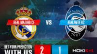 Prediksi Bola Real Madrid CF Vs Atalanta BC 17 Maret 2021