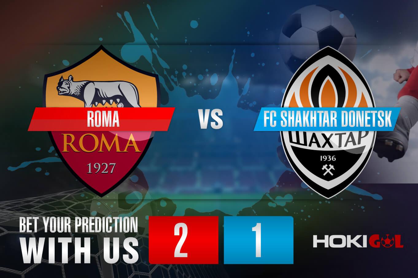 Prediksi Bola Roma Vs FC Shakhtar Donetsk 12 Maret 2021