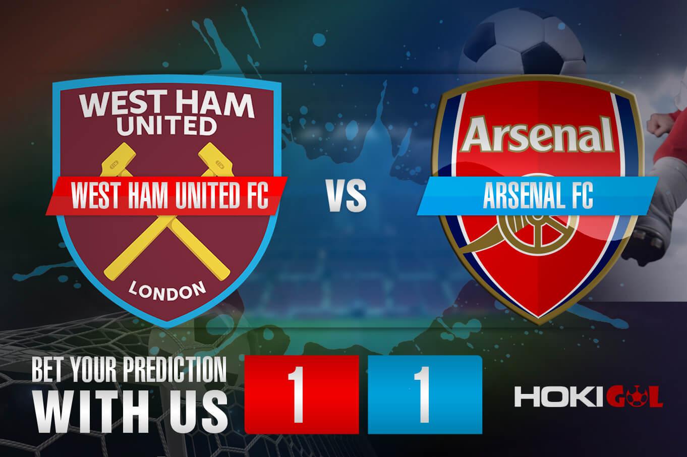 Prediksi Bola West Ham United FC Vs Arsenal FC 21 Maret 2021