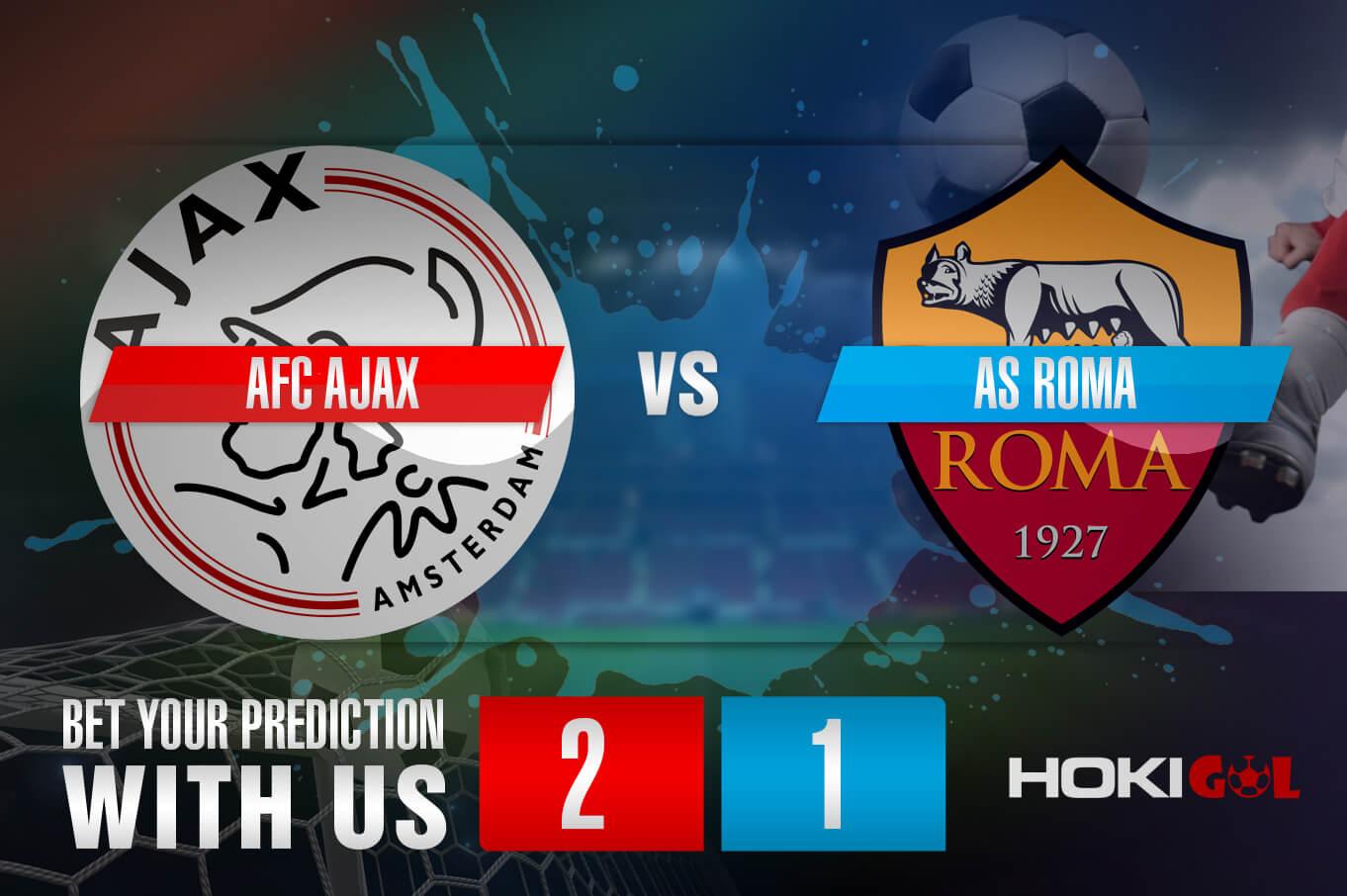 Prediksi Bola AFC Ajax Vs Roma 9 April 2021
