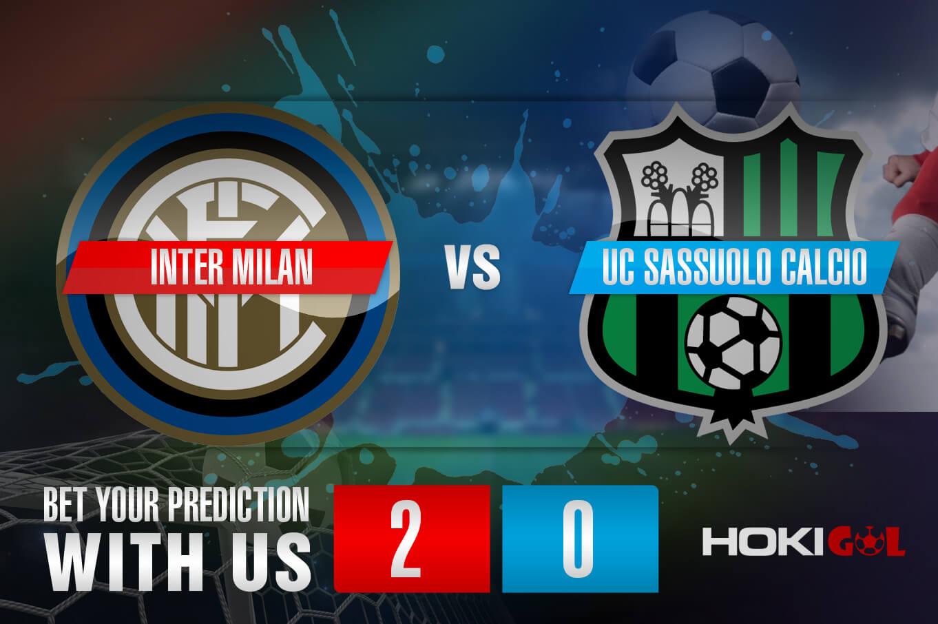 Prediksi Bola Inter Milan Vs UC Sassuolo Calcio 7 April 2021