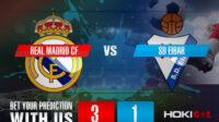 Prediksi Bola Real Madrid CF Vs SD Eibar 3 April 2021