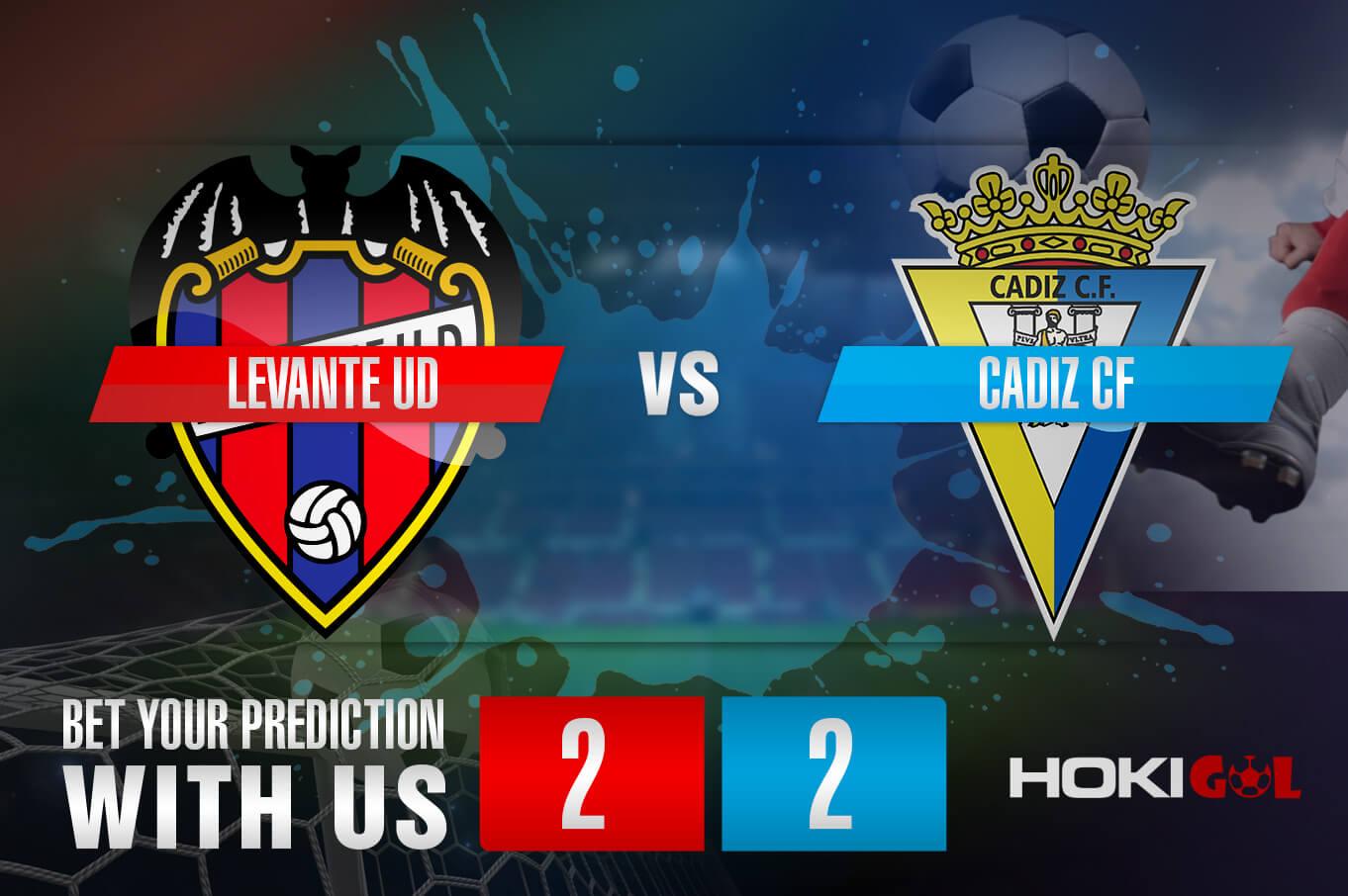 Prediksi Bola Levante UD Vc Cadiz CF 22 Mei 2021