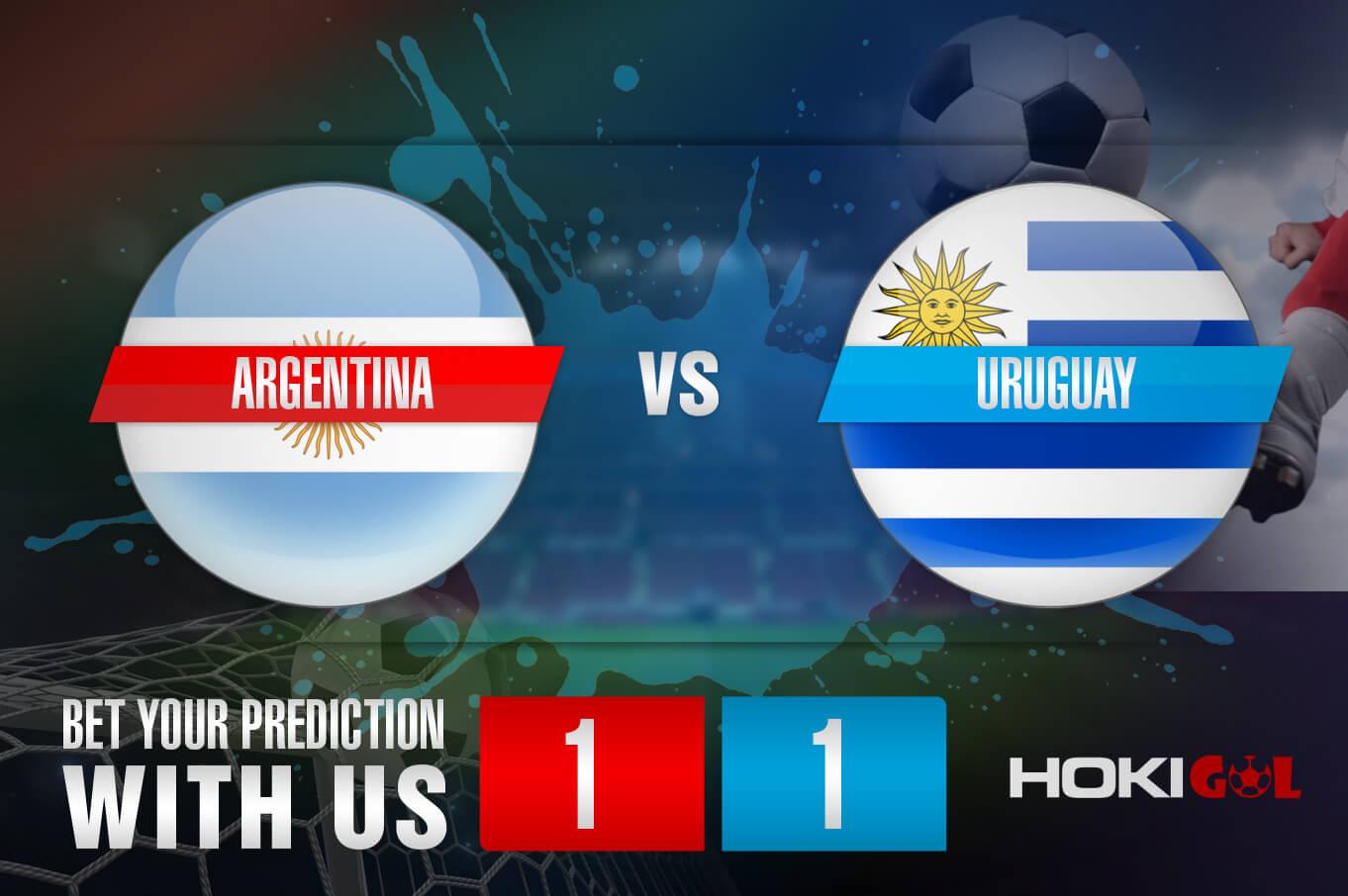 Prediksi Bola Argentina Vs Uruguay 19 Juni 2021