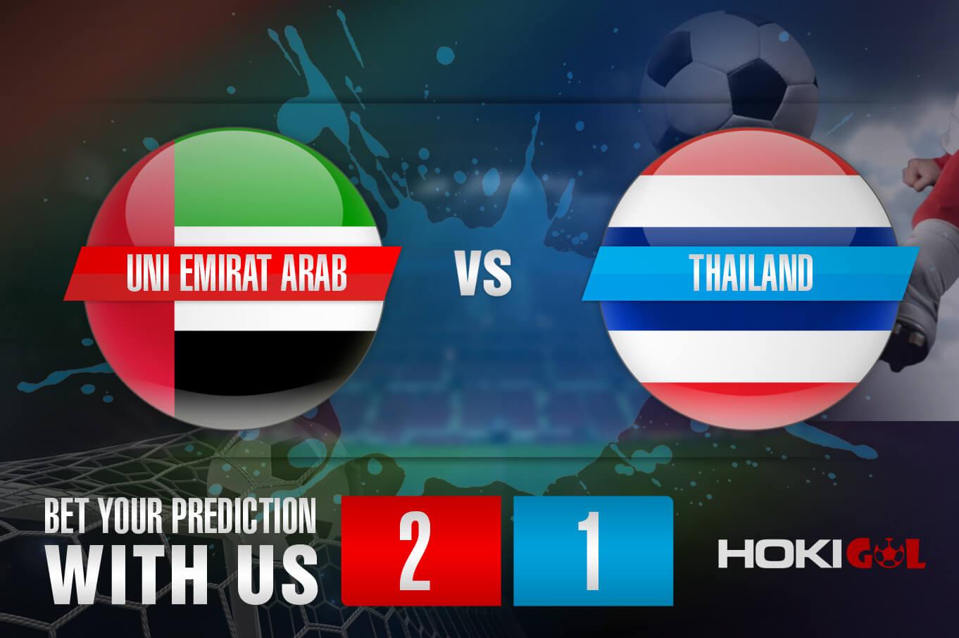 Prediksi Bola Uni Emirat Arab Vs Thailand 7 Juni 2021