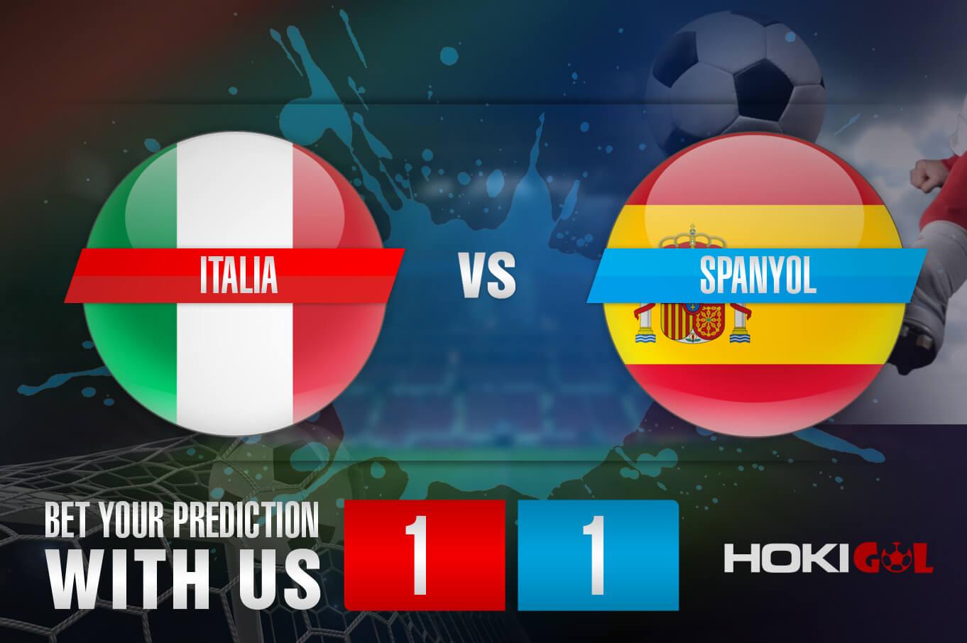 Prediksi Bola Italia Vs Spanyol 7 Juli 2021