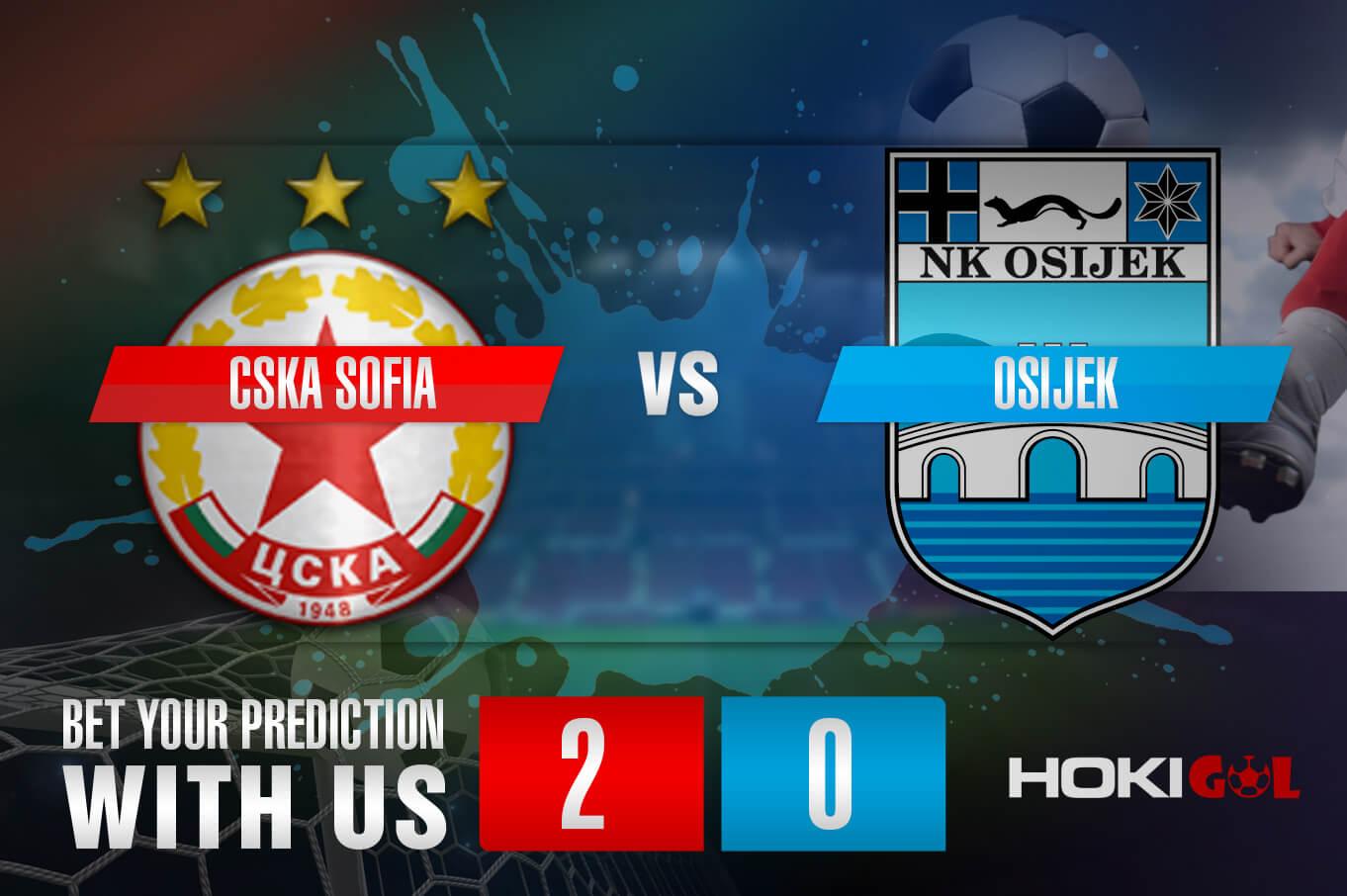 Prediksi Bola CSKA Sofia Vs Osijek 6 Agustus 2021
