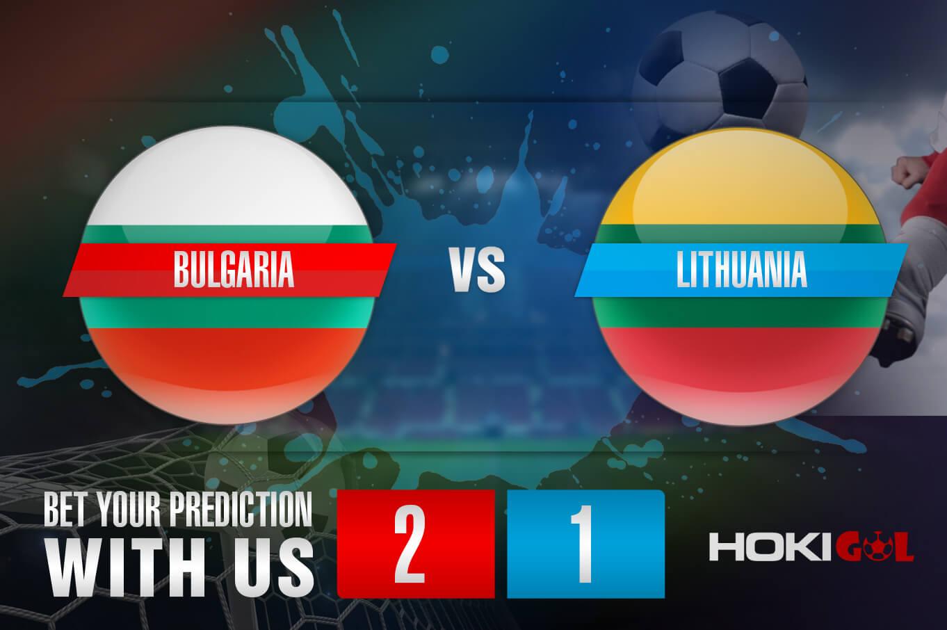 Prediksi Bola Bulgaria Vs Lithuania 5 September 2021