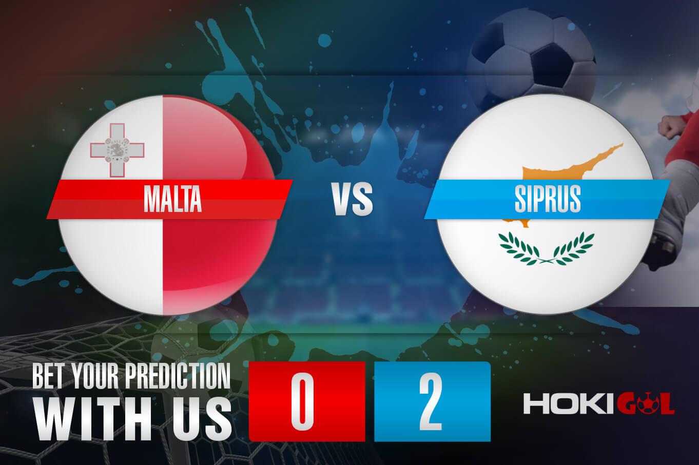 Prediksi Bola Malta Vs Siprus 2 September 2021
