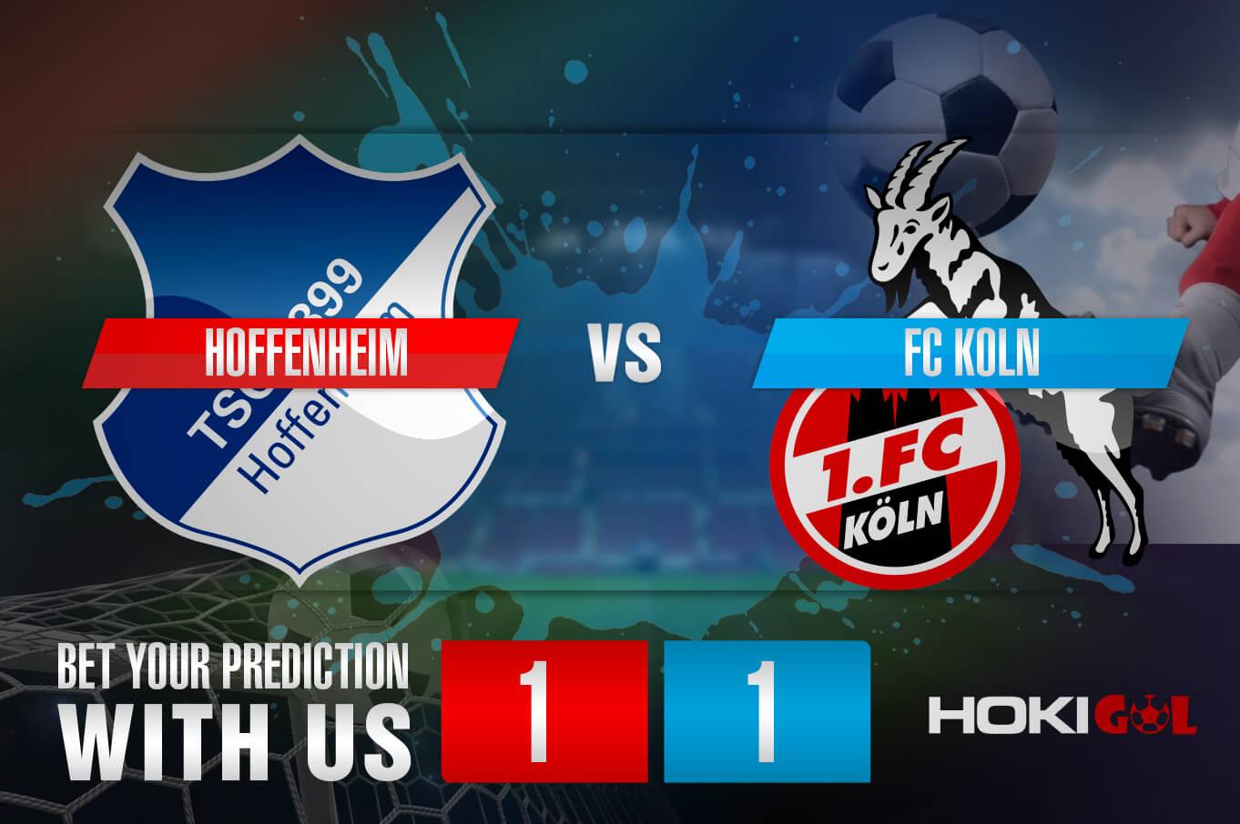 Prediksi Bola Hoffenheim Vs FC Koln 16 Oktober 2021